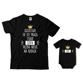 Komplet koszulka dla Taty + body C18