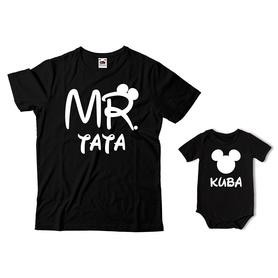 Komplet koszulka dla Taty + body C27