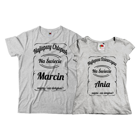 132286a19 Komplet koszulek z nadrukiem, prezent dla Pary - eprezencik.pl