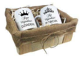 Komplet kubków w koszyczku dla Dziadków 03