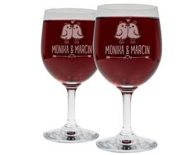 Kieliszki do wina 250ml na Ślub 10