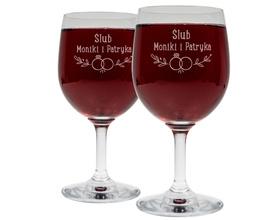 Kieliszki do wina 250ml na Ślub 15