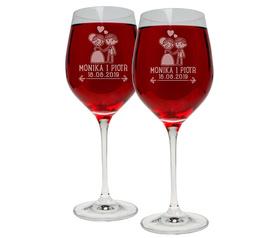 Kieliszki do wina 370ml na Ślub 12