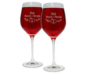 Kieliszki do wina 370ml na Ślub 15