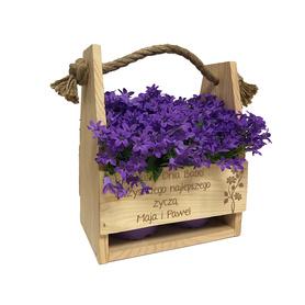 Doniczka na kwiaty dla Babci 06