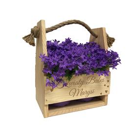 Doniczka na kwiaty dla Babci 08