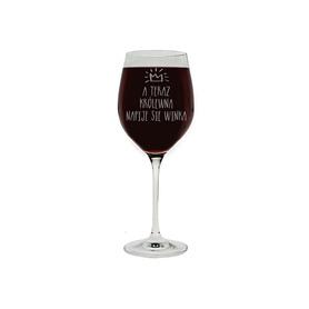 Kieliszek do wina 370ml z napisami 05