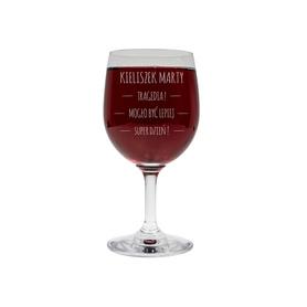 Kieliszek do wina 250ml z napisami 01