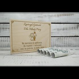 Pudełko zastrzyk gotówki na ślub 02