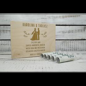 Pudełko zastrzyk gotówki na ślub 06