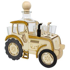 Traktor + karafka i 6 kieliszków