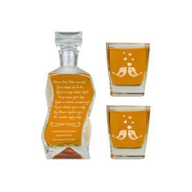 Karafka i 2 szklanki na Ślub 01