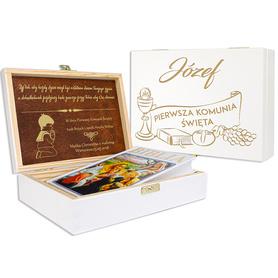 Pudełko białe z Biblią na Komunię 09
