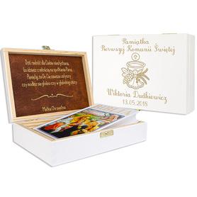 Pudełko białe z Biblią na Komunię 10