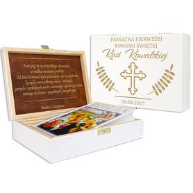 Pudełko białe z Biblią na Komunię 12