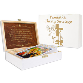 Pudełko białe z Biblią na Chrzest 06