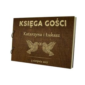 Album brązowy Księga Gości 01
