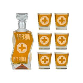 Karafka i 6 szklanek dla Taty 02