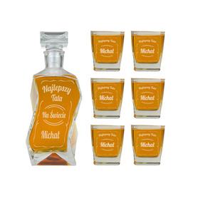 Karafka i 6 szklanek dla Taty 05