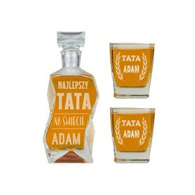 Karafka i 2 szklanki dla Taty 03