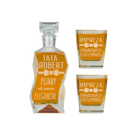 Karafka i 2 szklanki dla Taty 04