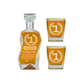 Karafka i 2 szklanki dla Taty 09