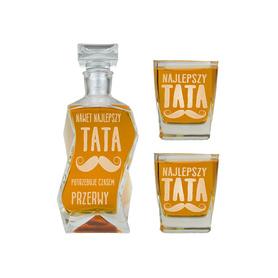 Karafka i 2 szklanki dla Taty 14