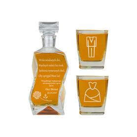 Karafka i 2 szklanki na Ślub 10