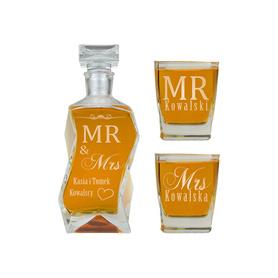 Karafka i 2 szklanki na Ślub 12